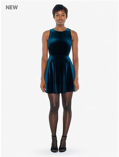 Shop American Apparel - Find fashionable basics for men, women, children, and babies. Made in USA clothing. Skater Dress, American Apparel, Fashion Looks, Velvet, Hoodies, Formal Dresses, Clothes, Outfits, Beauty