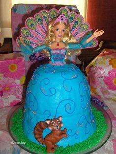 Barbie Island Princess Cake — Childrens Birthday Cakes