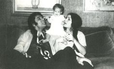 Image detail for -casual black and white Elvis Presley family photo