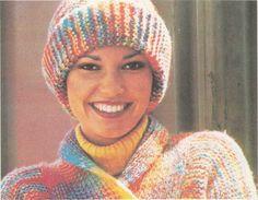 Tricot e Croche Passo a Passo Receitas: Gorro de tricô em lã mescla