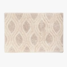 Image 1 of the product COTTON JACQUARD BATH MAT WITH GEOMETRIC MOTIF