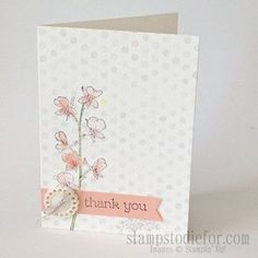 We love this soft card!  (Make 20 Cards in an hour or less with Watercolor Wonder Designer Series Note Cards. www.stampstodiefo...)