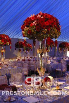 Preston Bailey Event Ideas, I just love this design. Red Rose Wedding, Star Wedding, Wedding Flowers, Preston Bailey, Pinterest Valentines, Rose Centerpieces, Glamorous Wedding, Wedding Planning Tips, Floral Arrangements