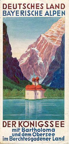 """""""Deutsches Land - Bayerische Alpen - Der Königssee,"""" 1936"""