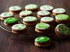 Sandwich småkager med nougat