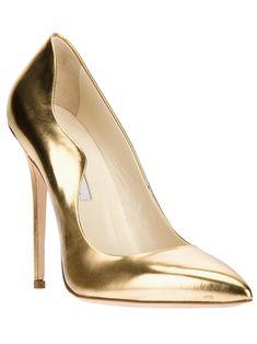 Brian Atwood Sapato Dourado. - Biondini - Farfetch.com.br