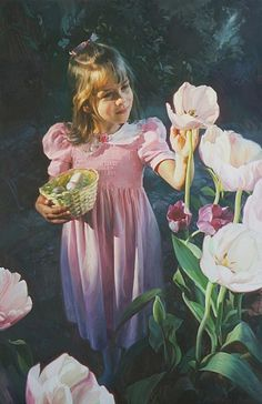 Girl with Flowers By Oil Portrait Artist Scott Wallace Johnston Painting Competition, Community Art, Art Painting, Portrait Artist, Painter, Painting, Art, Representational Art, Beautiful Art