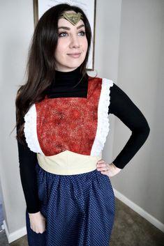 Sewing a Wonder Woman Apron! [VLOG]