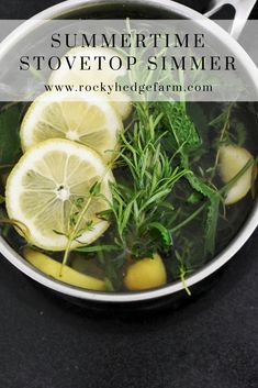 Natural house refresher--water, lemons, vanilla and herbs simmer on the stove. Make the house smell great naturally. Homemade Cleaning Products, Household Cleaning Tips, Cleaning Recipes, House Cleaning Tips, Natural Cleaning Products, Simmering Potpourri, Stove Top Potpourri, Potpourri Recipes, House Smell Good