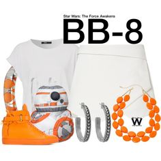Star Wars - The Force Awakens by wearwhatyouwatch Nerd Outfits, Star Wars Outfits, Disney Bound Outfits, Disney Inspired Outfits, Disney Style, Nerd Fashion, Fandom Fashion, Fashion Women, Polyvore Casual