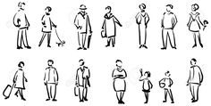 drawing people People Sketch Royalty Free Cliparts, Vectors, And Stock Illustration. Image - - Millions of Creative Stock Photos, Vectors, Videos and Music Files For Your Inspiration and Projects. Human Figure Sketches, Human Sketch, Figure Sketching, Urban Sketching, Figure Drawing, Painting People, Drawing People, Stock Images People, Architecture People