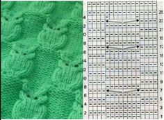 Owl cable pattern