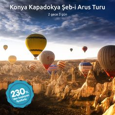 2 gece 3 günlük Konya Kapadokya Şeb-i Arus Turu ile haftasonunuzu en güzel şekilde değerlendirebilirsiniz.   Bilgi almak için ☎ 0850 466 77 44