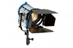 ARRI FRESNELS - Available in 1K, 650W, 300W, 150W. Each light comes with stand, barndoors, & scrims.