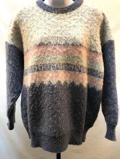 cc2bd25860 Samband of Iceland Wool Sweater Women s L Vintage Nordic Fair Isle Ski  Fuzzy  SambandofIceland