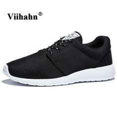 21874efa96c Running Shoes For Men 2017 Breathable Spring And Summer Sneakers Mens Black  Light Trainer Sport Shoes Plus Size 40-46