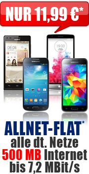 Allnet-Flat 500 MB 11,99 Aktion mit O2 comfort Allnet Flat 11.99 Aktion Vertrag!