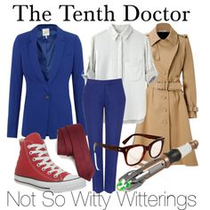 The Tenth Doctor by notsowitty on Polyvore featuring moda, rag & bone, Joie, Bouchra Jarrar, Hobbs, Converse, Cutler and Gross and Calvin Klein