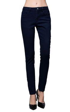 SM MED LRG Boot cut skinny jeans FIGURE FLATTERING COMFORTISSE STRETCH JEANS