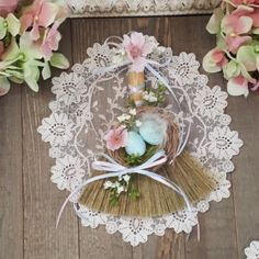 Ostara Besom Easter Decor Easter Decorations by TheShabbyWitch