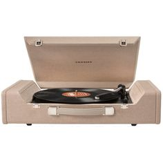 Crosley Nomad Usb Turntable (695 RON) ❤ liked on Polyvore featuring tan