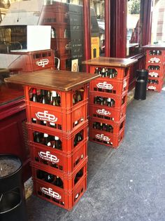 Portable milk crate furniture furniture diy pinterest for Where can i buy wooden milk crates