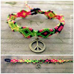 a19a4409cd01 Items similar to Rasta Peace Friendship Bracelet on Etsy
