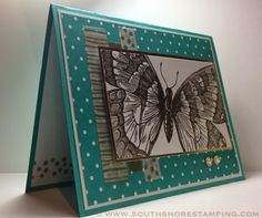 Card using the Stampin' Up! set Swallowtail by Emily Mark SU demo Montreal. www.southshorestamping.com - SSSC204