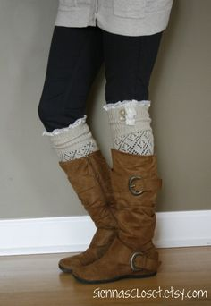 Boot Socks- there actually leg warmers, so Cute Fashion, Fashion Outfits, Womens Fashion, Emo Fashion, Fashion Ideas, Sweet Style, Style Me, Fall Outfits, Cute Outfits