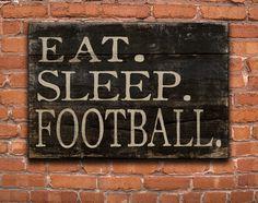 Football block wooden sign by DesignHouseDecor on Etsy