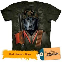 Tricouri The Mountain – Tricou Duck Hunter Mountain Duck, Hunter Dog, 3d, Dogs, Mens Tops, T Shirt, Animals, Animales, Tee