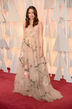 The Oscar-Night Looks That Won, Big Time  #refinery29  http://www.refinery29.com/2015/02/82608/oscars-2015-best-dressed-red-carpet-photos#slide-18  Hiding a baby bump on the red carpet can feel a bit forced. That is, if you're not Keira Knightley in an ethereal, flesh-tone Valentino couture frock. It's effortless, playful, and gorgeous — and we want it....