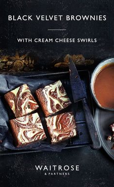 Pin on Sweet recipes Just Desserts, Delicious Desserts, Dessert Recipes, Yummy Food, Tasty, Waitrose Food, Ma Baker, Pastry Cake, Brownie Recipes