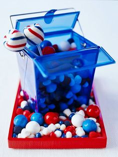 Patriotic Candy Centerpiece
