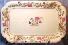Antique Haviland Limoges Schleiger 486-8 Ironstone Tray Turkey Platter