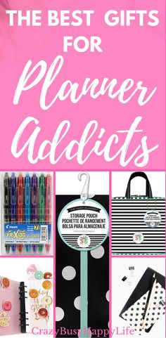 Gift guide with the ultimate roundup of planner accessories. Accessories for the Erin Condren Life Planner, the Happy Planner, A5, scheduler, agenda, day planner