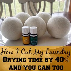 How I cut the time it takes me to dry clothes by around + how you can reduce drying time and kick fabric softeners to the curb using essential oils! I love laundry hacks! Anything that saves me time and money is the best!