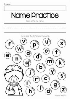 Preschool Name Writing Worksheets
