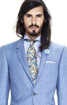 Eton Blue Paisley Woven Silk Tie! Love!