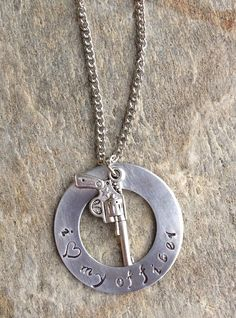 I Love My Officer Necklace by LilaNashDesigns on Etsy, $35.00