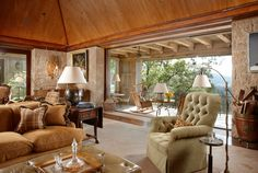 love the covered terrace off this living room