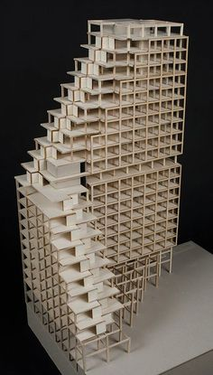 "Model from Siri Idlands thesis project ""Above Oslo"", a timber high-rise. AHO 2016."