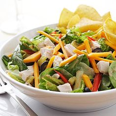 Chef's Salad When you're looking for 30-minute meals, consider a chef salad! The combination of meats, veggies, color, and crunch make it an an ever-popular option for a quick lunch or dinner.