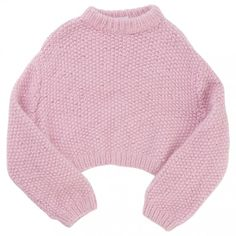 LALA BERLIN - Pre-owned Lala Berlin Knitwear (320 CAD) ❤ liked on Polyvore featuring tops, sweaters, shirts, jumpers, long-sleeve shirt, pink cropped sweater, pink long sleeve shirt, long sleeve crop top and knit shirt