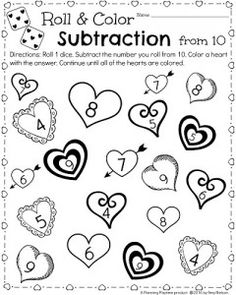 kindergarten math and literacy worksheets for february fun worksheets subtraction worksheets. Black Bedroom Furniture Sets. Home Design Ideas