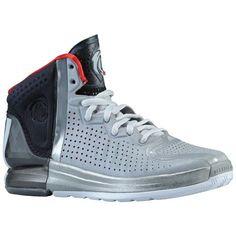 bd186f3cdd2 adidas Rose 4.0 - Boys  Grade School - Basketball - Shoes - Aluminum White  Black