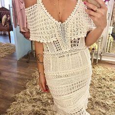 Bruma Dress ❤ #VanessaMontoroStyle #VanessaMontoroCrochet #Authentic #Timeless #handmade