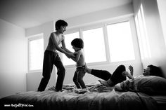 Child Photography, Everyday Documentary, Personal ProjectsMay 25, 2015 Bedtime wrestling By Lisa Tichané