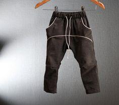Boys pants in brown light corduroy by ZanziBach on Etsy