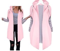 Tuesdays2 Womens Winter Casual Zip up Coat Hoodie Cardigan Outwear Jacket Long Sweatshirt M Pink -- Learn more by visiting the image link.  This link participates in Amazon Service LLC Associates Program, a program designed to let participant earn advertising fees by advertising and linking to Amazon.com.